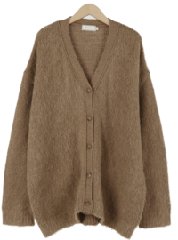 Bailey Mohair Loose Fit Cardigan