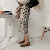 Morty Leopard Long Skirt