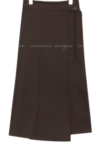 LONS PINTUCK STRAP LONG SKIRT