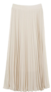 Evely pleated maxi skirt 裙子
