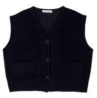 Pocket V-neck knit vest