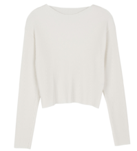 Again pleated round-neck T-shirt