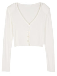 Rage Slim Pad V-Neck Cardigan
