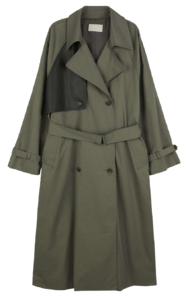Bach color line trench coat