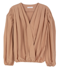 Pumpkin wrap style over blouse 襯衫