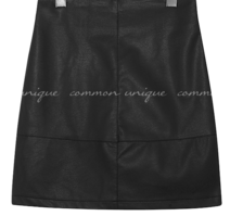 REIKO LEATHER MINI SKIRT