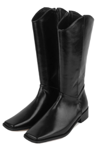 Tail square long boots