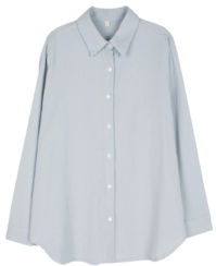 Normal Poplin Button Standard Shirt