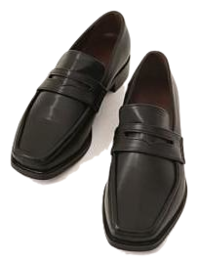 Square Toe Penny Loafers