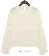 Long Sleeve Round Neck Blouse