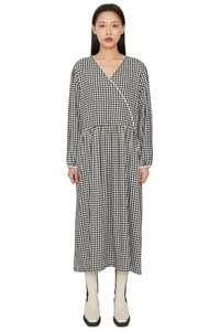 Picnic chess wrap maxi dress