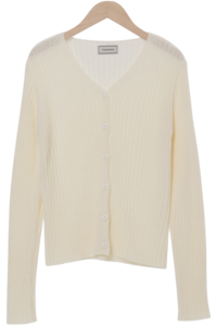 Very V-neck ribbed cardigan