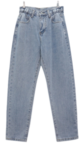 Five-banded denim trousers