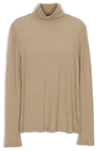 Useful slim ribbed turtleneck T-shirt