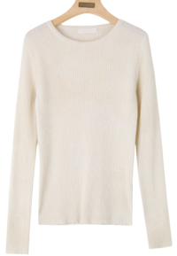 Coil ribbed knit