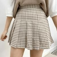 Marong mini check skirt