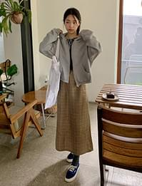 Notting Hill Check Banding Long Skirt