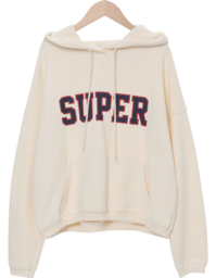 Super Lettering Hooded Man-to-Man 長袖