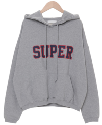 Super Lettering Hooded Man-to-Man 長袖上衣