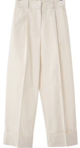 Roll-up Pin Tuck Wide Banding Slacks
