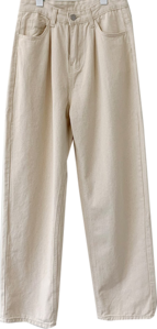 Oatmeal Beige Pintuck Wide Pants