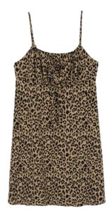 Kai leopard-string midi dress