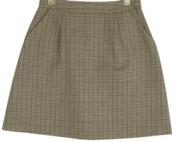 Two-tone mini skirt