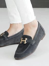 Lemelan leather height loafers 3cm