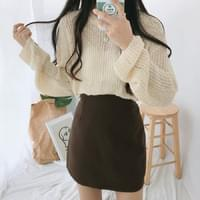 Downing cropped knit