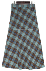 CENO CHECK BANDING LONG SKIRT