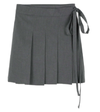 Kitsch pleated wrap mini skirt