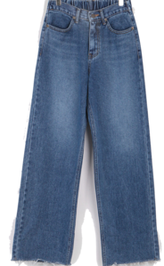 Easel cut denim pants