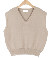 Joy V-neck knit vest