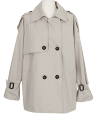 New D Short Trench Coat
