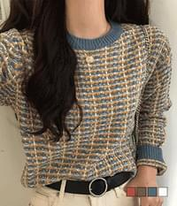 Bee chip tweed knit