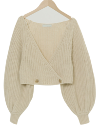 Balloon Rams Wool Bolero Cardigan