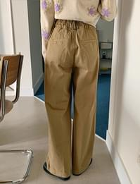 Mare Pintuck Wide Banding Pants