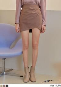 RINDA UNBAL SHIRRING MINI SKIRT