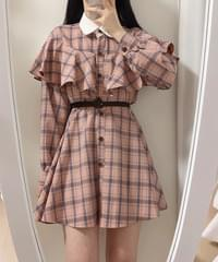Elin Cape Check Dress