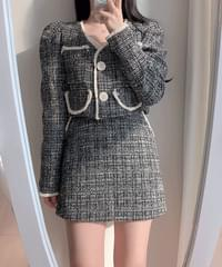 Love Me Tweed Jacket + Pocket Skirt