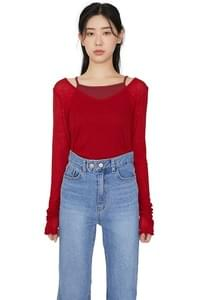 Urban V-neck long sleeve top