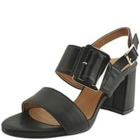 King Belt High Heel Sandals Black