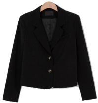 Tailored two-button semi-crop jacket