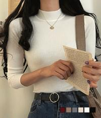 Special price basic Ribbed anti-neck knitwear