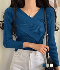 Uni ribbed wrap knit