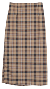 Kleta check long skirt