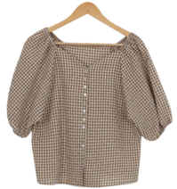 Plain check blouse