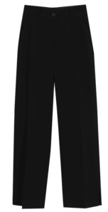 Micro slit wide long slacks