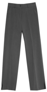 Micro slit wide long slacks pants