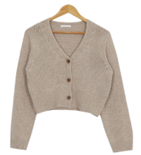 Aaron Wool Crop Cardigan